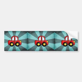 Desenhos animados do carro adesivo para carro