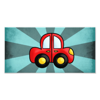 Desenhos animados do carro impressão de foto