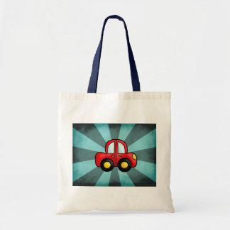 Desenhos animados do carro sacola tote budget