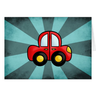 Desenhos animados do carro cartão comemorativo