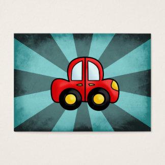 Desenhos animados do carro cartão de visitas