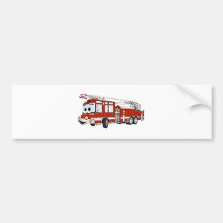 Desenhos animados do carro de bombeiros de gancho  adesivo para carro