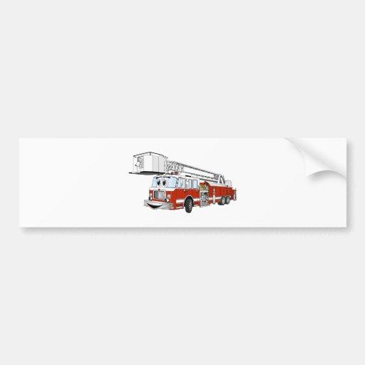 Desenhos animados do carro de bombeiros de gancho  adesivo