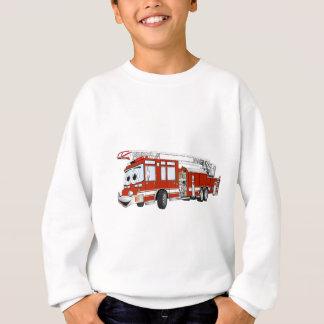Desenhos animados do carro de bombeiros de gancho agasalho