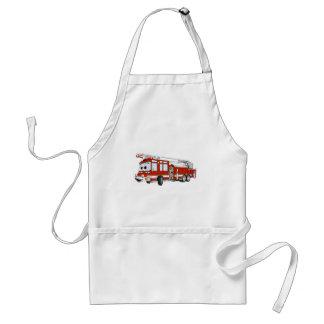 Desenhos animados do carro de bombeiros de gancho  avental