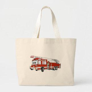 Desenhos animados do carro de bombeiros de gancho bolsa