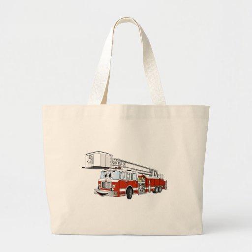 Desenhos animados do carro de bombeiros de gancho  bolsa para compra