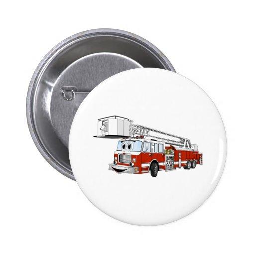 Desenhos animados do carro de bombeiros de gancho  boton