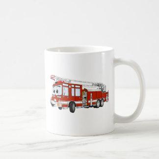 Desenhos animados do carro de bombeiros de gancho canecas