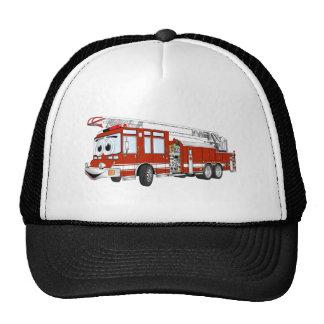 Desenhos animados do carro de bombeiros de gancho bonés