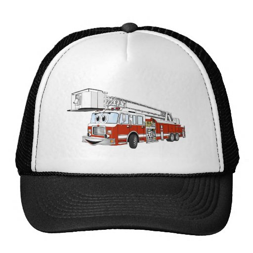 Desenhos animados do carro de bombeiros de gancho  boné