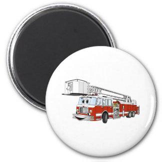 Desenhos animados do carro de bombeiros de gancho