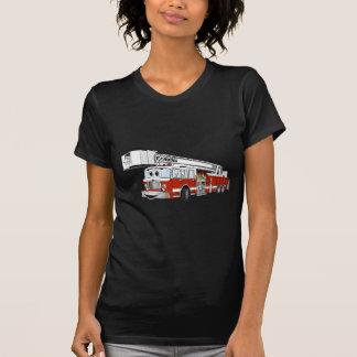 Desenhos animados do carro de bombeiros de gancho t-shirts