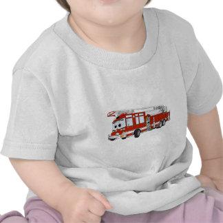 Desenhos animados do carro de bombeiros de gancho tshirts