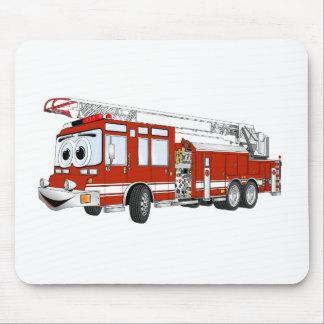 Desenhos animados do carro de bombeiros de gancho  mousepad