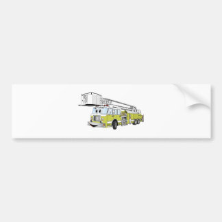 Desenhos animados do carro de bombeiros do Snorkel Adesivo Para Carro