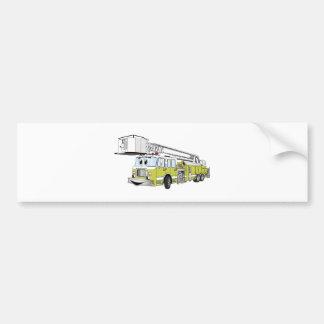 Desenhos animados do carro de bombeiros do Snorkel Adesivo