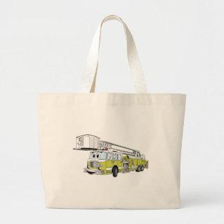 Desenhos animados do carro de bombeiros do Snorkel Bolsa Para Compras
