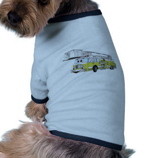 Desenhos animados do carro de bombeiros do Snorkel Camisetas Para Cães