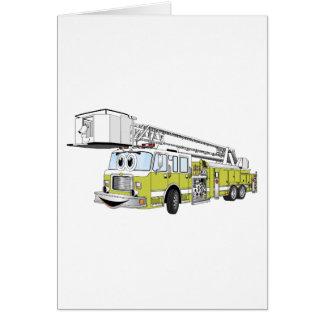 Desenhos animados do carro de bombeiros do Snorkel Cartões