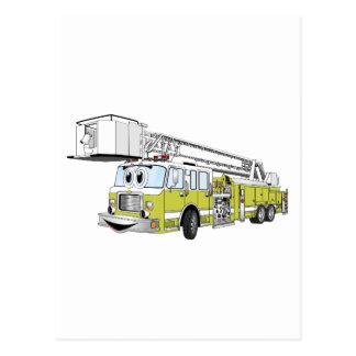 Desenhos animados do carro de bombeiros do Snorkel Cartao Postal