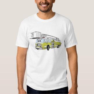 Desenhos animados do carro de bombeiros do Snorkel T-shirts