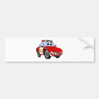Desenhos animados do carro de esportes do fogo adesivo