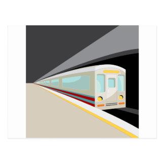 Desenhos animados do carro de metro cartão postal