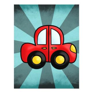 Desenhos animados do carro panfleto personalizados