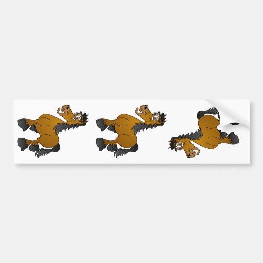 Desenhos animados do cavalo de Brown Adesivo