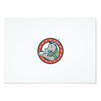 Desenhos animados do círculo do café do sargento convite 12.7 x 17.78cm