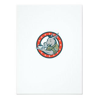 Desenhos animados do círculo do café do sargento convite 13.97 x 19.05cm