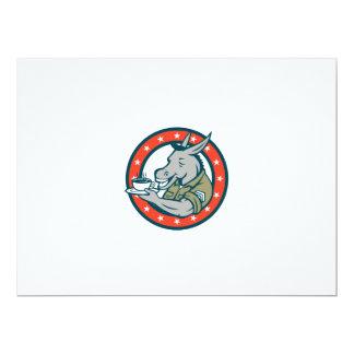Desenhos animados do círculo do café do sargento convite 16.51 x 22.22cm