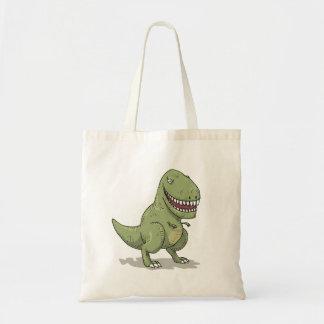 Desenhos animados do dinossauro T Rex Bolsas Para Compras