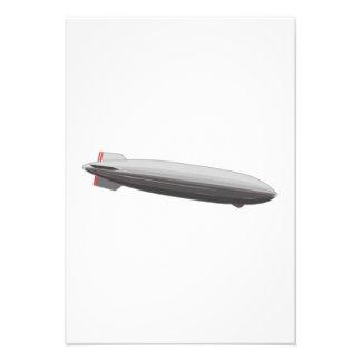 Desenhos animados do dirigível convites personalizados