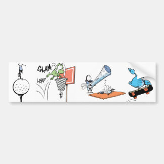 Desenhos animados do esporte adesivo para carro