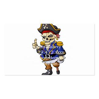 desenhos animados do esqueleto do pirata cartão de visita