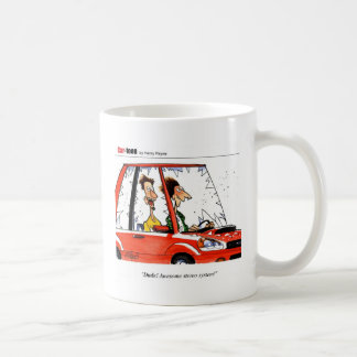 Desenhos animados do estéreo do gajo caneca de café