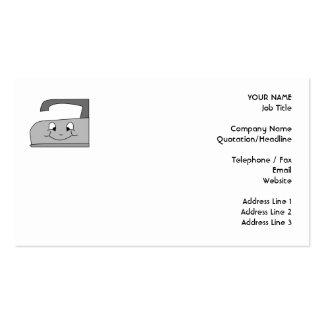 Desenhos animados do ferro Cinzento e preto no br Modelo Cartões De Visita