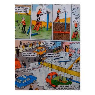 Desenhos animados do Firetruck Cartao Postal