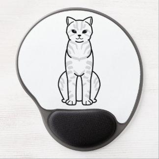 Desenhos animados do gato de Li do dragão Mouse Pad De Gel
