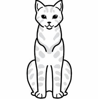 Desenhos animados do gato de Mau do egípcio Esculturafotos