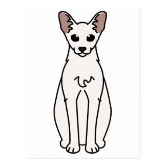 Desenhos animados do gato de Singapura Cartão Postal