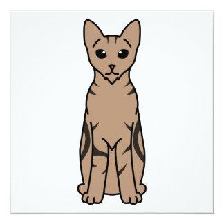 Desenhos animados do gato de Sokoke Convite Quadrado 13.35 X 13.35cm