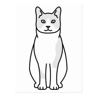Desenhos animados do gato do sapato de neve cartão postal