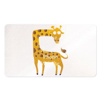desenhos animados do girafa cartão de visita