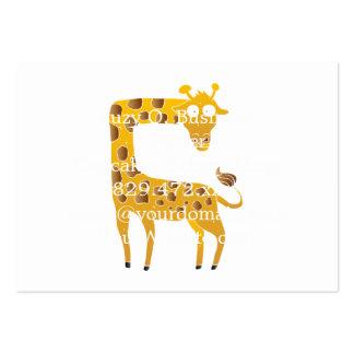 desenhos animados do girafa cartão de visita grande