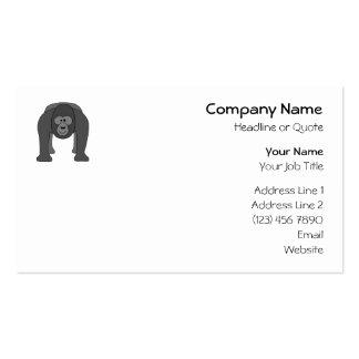 Desenhos animados do gorila modelo cartão de visita