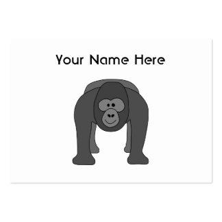 Desenhos animados do gorila cartoes de visita