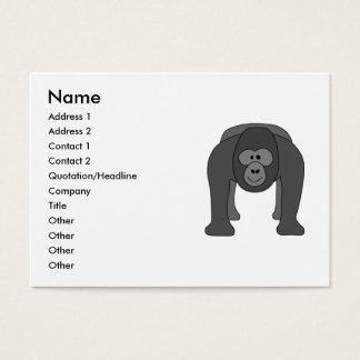 Desenhos animados do gorila cartão de visitas
